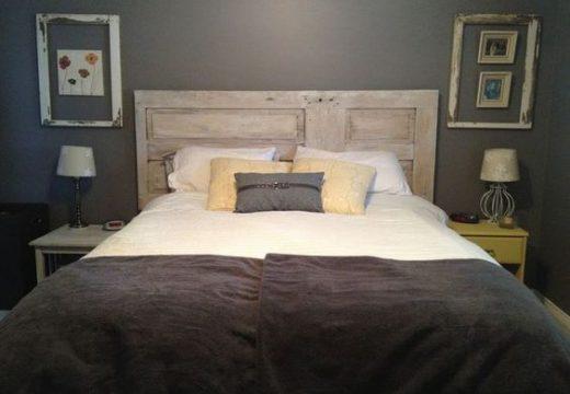 Une tête de lit de récup : le DIY