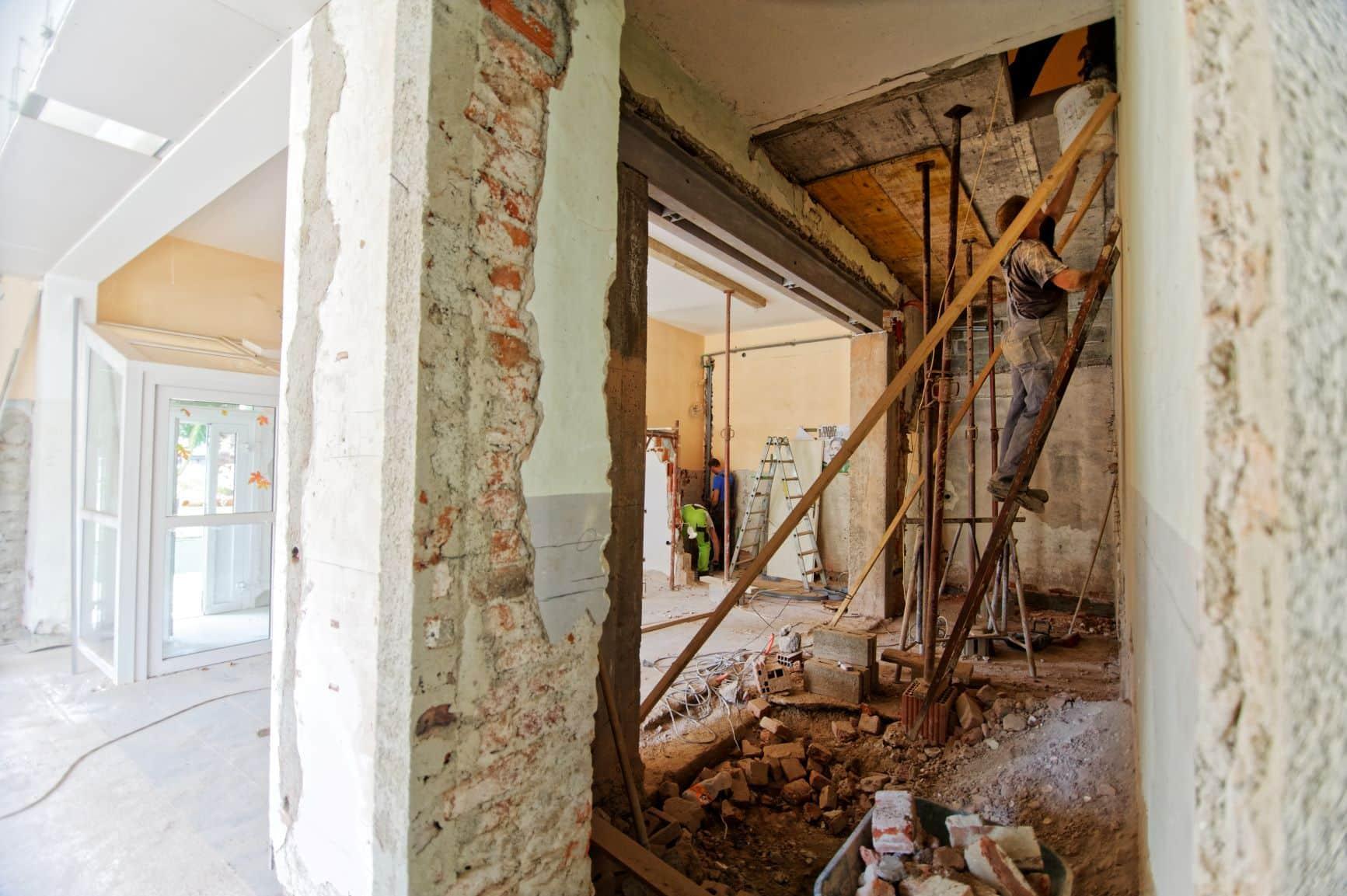Travaux de rénovation dans un logement